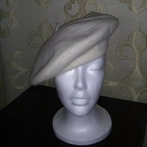 100% wool beret. NWOT. Cream color